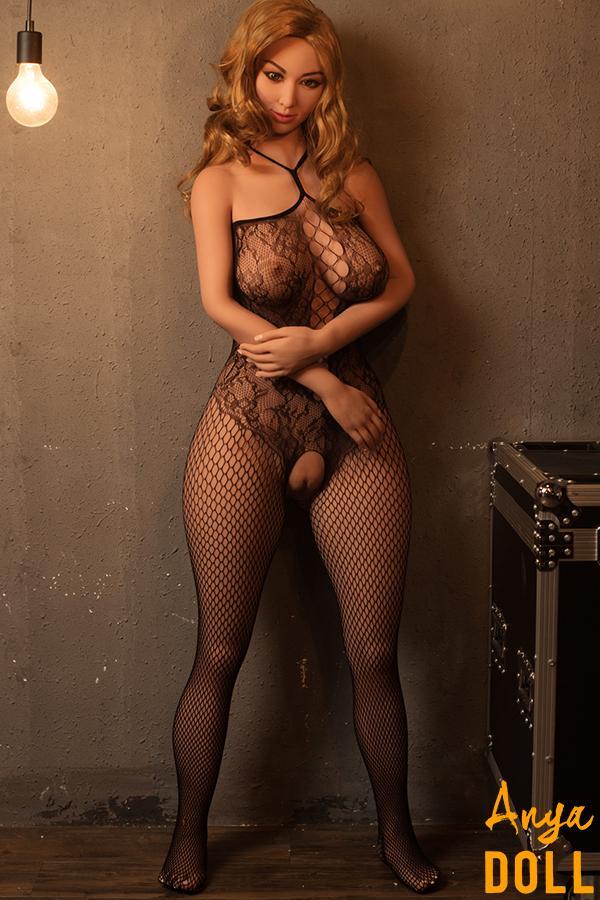 160cm Real Sex Doll Big Butt Gold Hair Nina